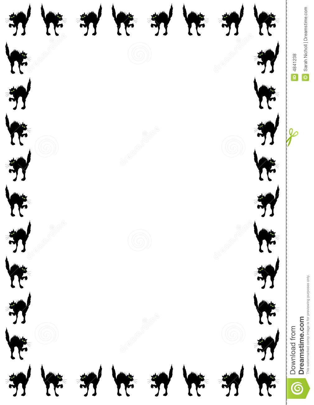1009x1300 Black Cat Clipart Border