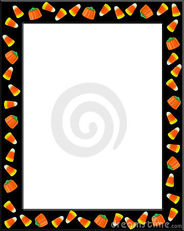 360x450 Candy Corn Page Border Clipart