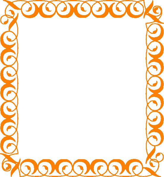 552x596 Pumpkin Border Halloween Border Free Clip Art Borders