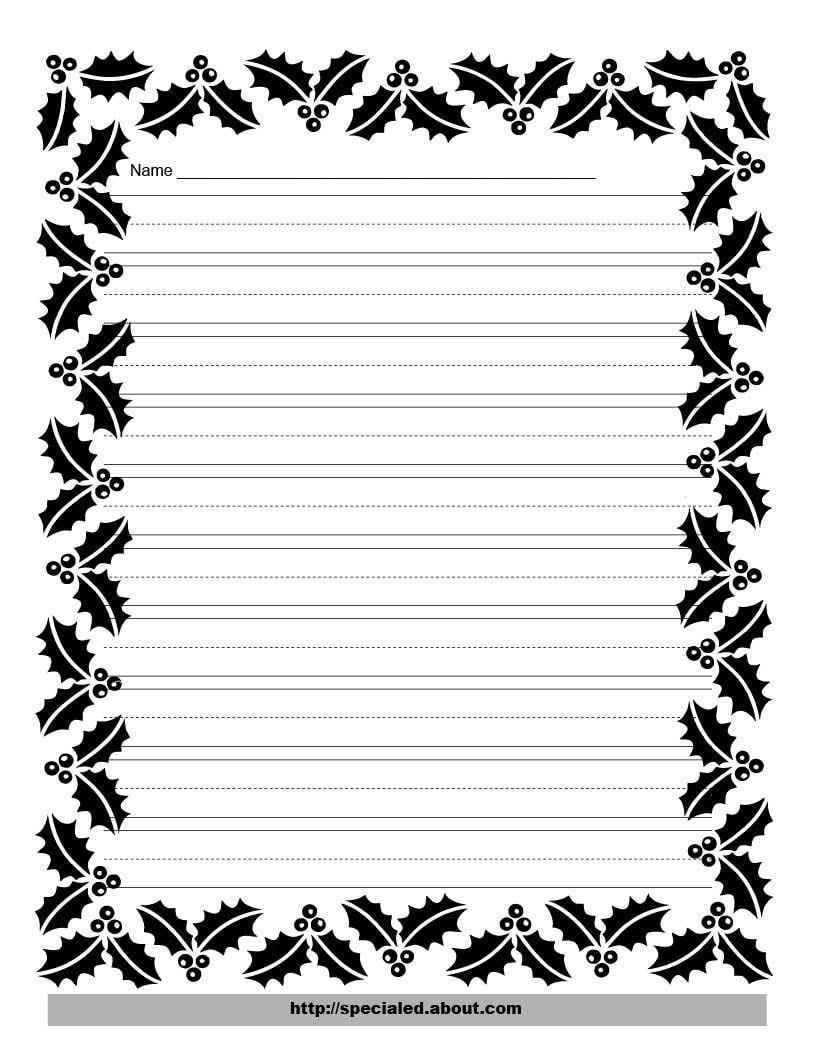 816x1056 Halloween Writing Borders Fun For Christmas