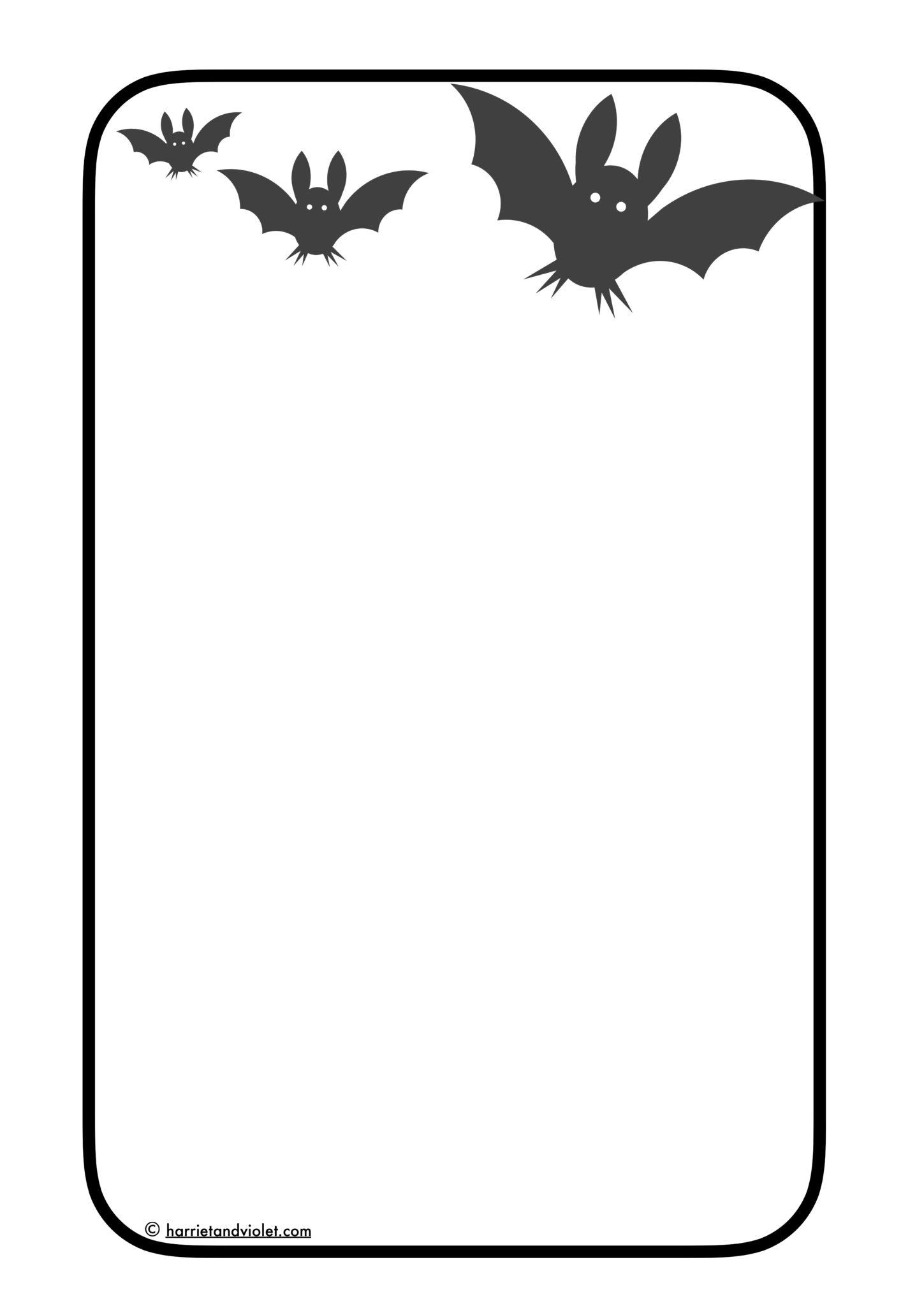 1449x2048 Halloween Border Paper A4