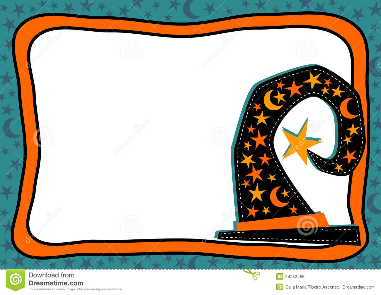 1300x1008 Witch Clipart Border