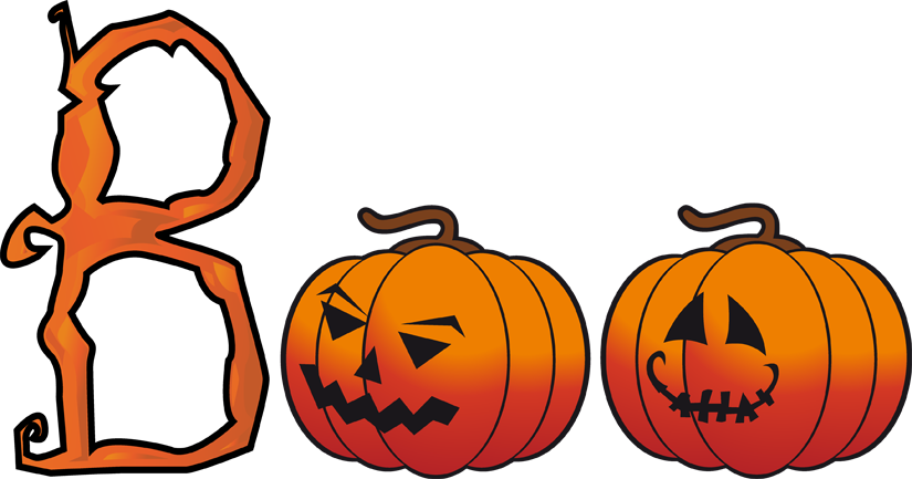 825x433 Clip Art Of The Word Boo Clipart