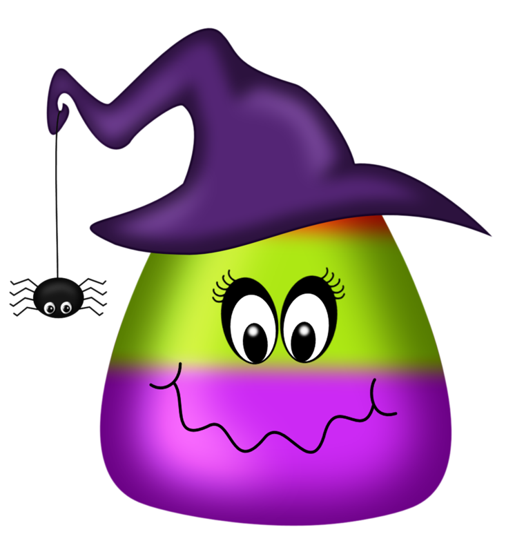 746x800 Halloween Candy Corn Witch