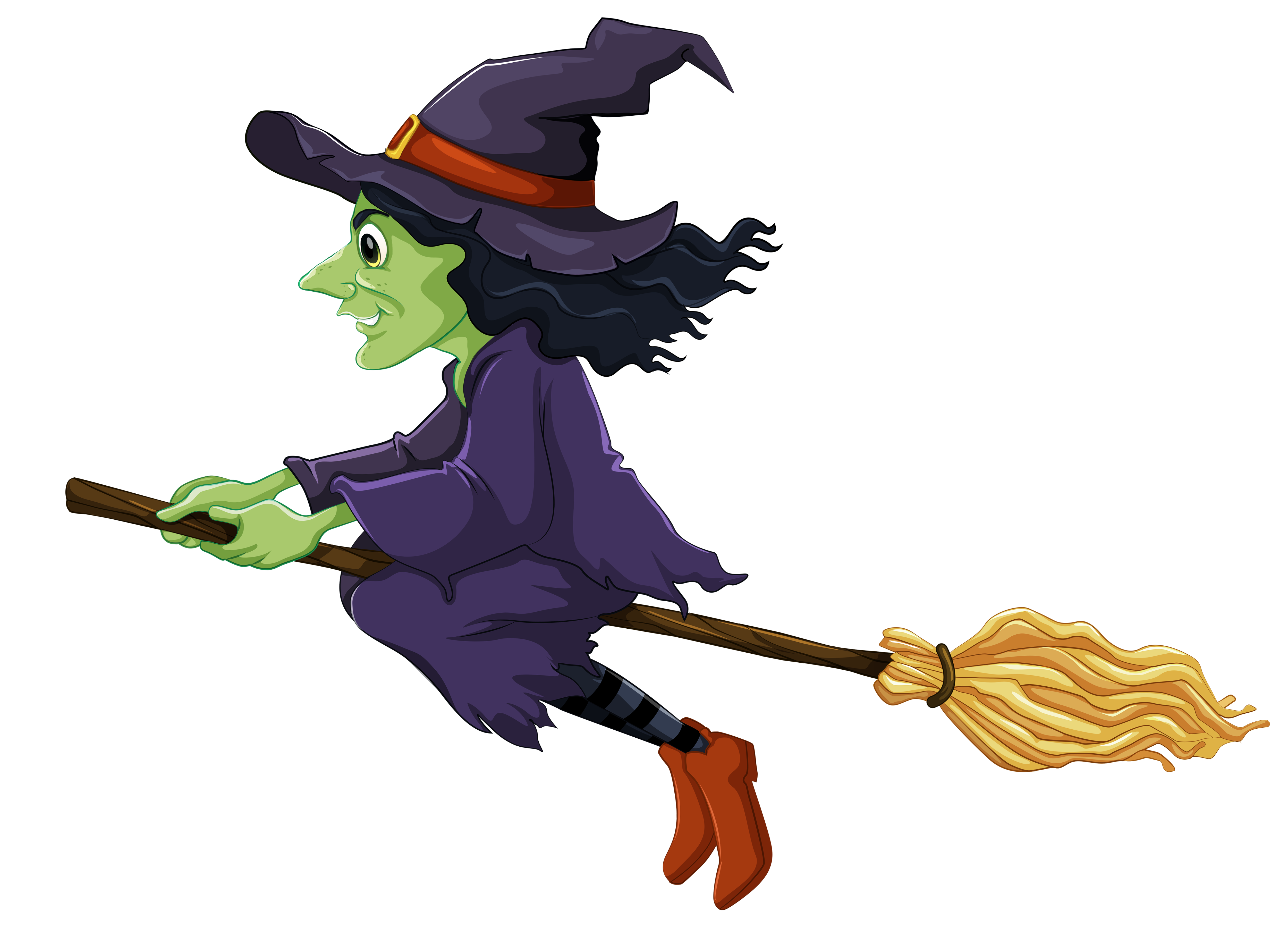 5000x3633 Clipart halloween witch