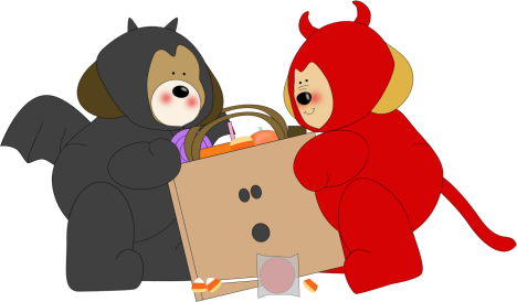 468x274 Halloween Monsters Clip Art
