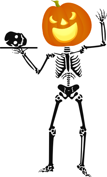360x598 Halloween Skeleton Clip Art