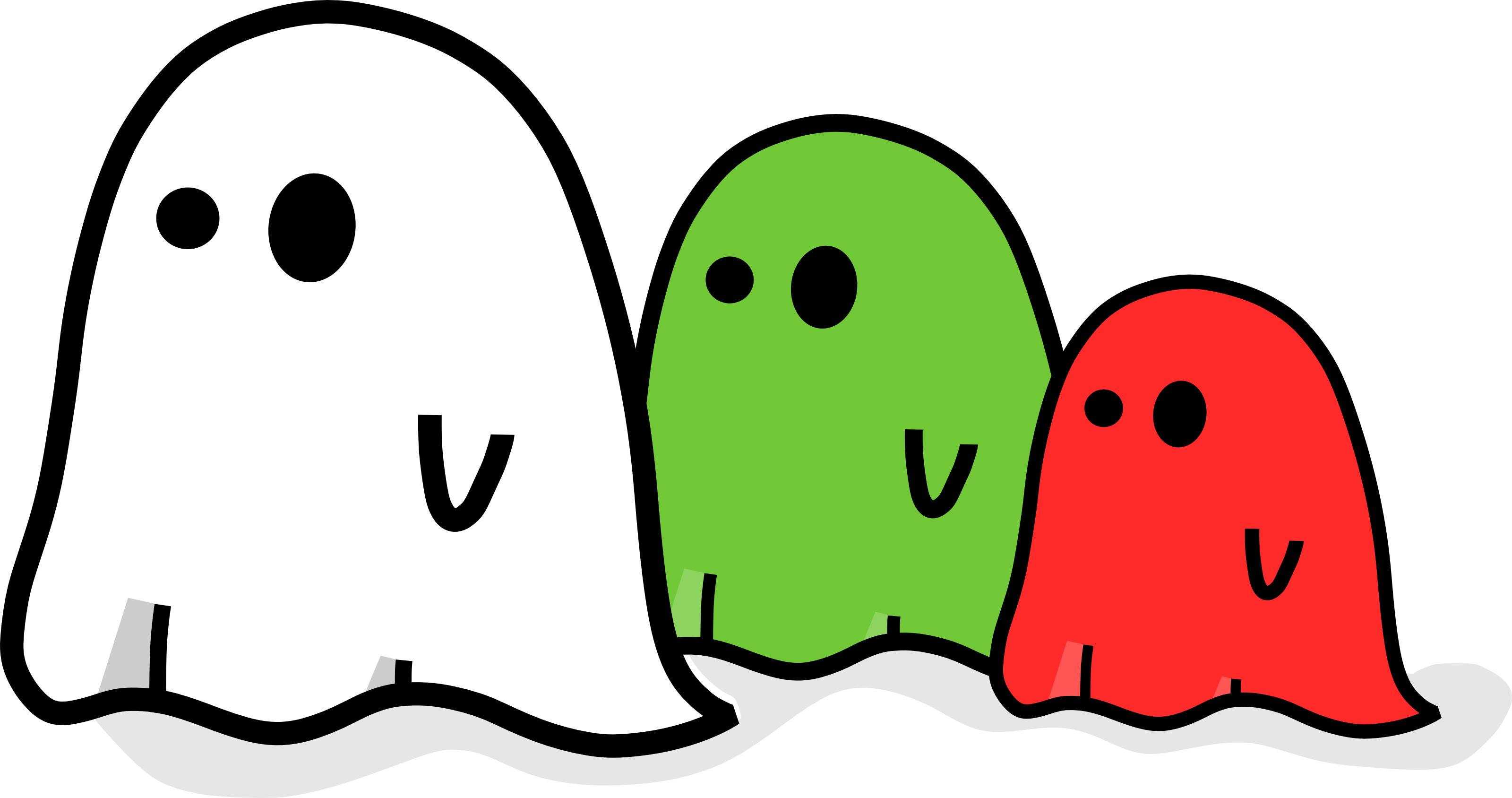 3200x1688 Best Halloween Ghost Clip Art Vector Design » Free Vector Art