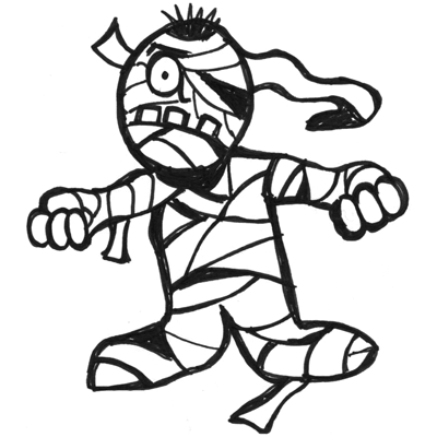 400x400 Drawing Cartoon Mummies For Halloween In Easy Steps