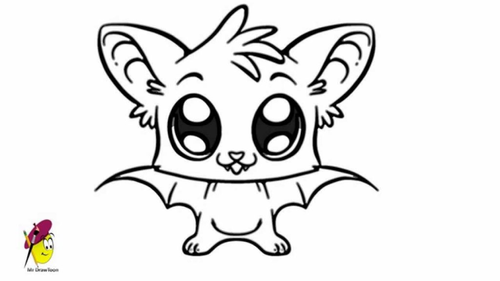 1024x576 Coloring Pages Impressive Drawing Of Halloween Bat Cartoon Easy