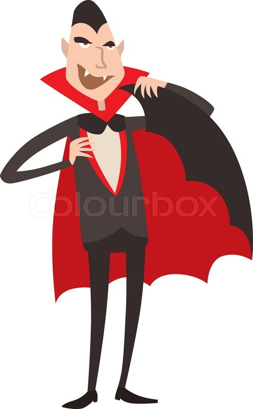 495x800 Cartoon Dracula Vector. Charming Predatory Vampire. Cartoon