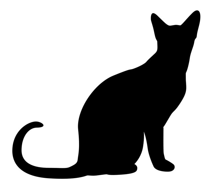 736x670 Cat Black And White Halloween Kitten Clipart Clipartxtras