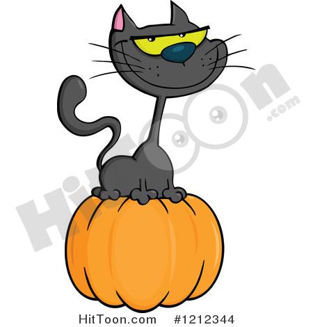 450x470 Halloween Cat Clipart