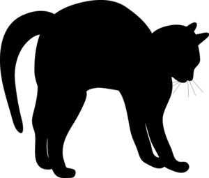 300x255 Halloween Cat Silhouette Clipart