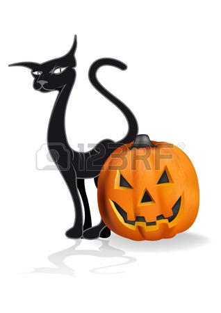 318x450 17,539 Halloween Cat Stock Illustrations, Cliparts And Royalty