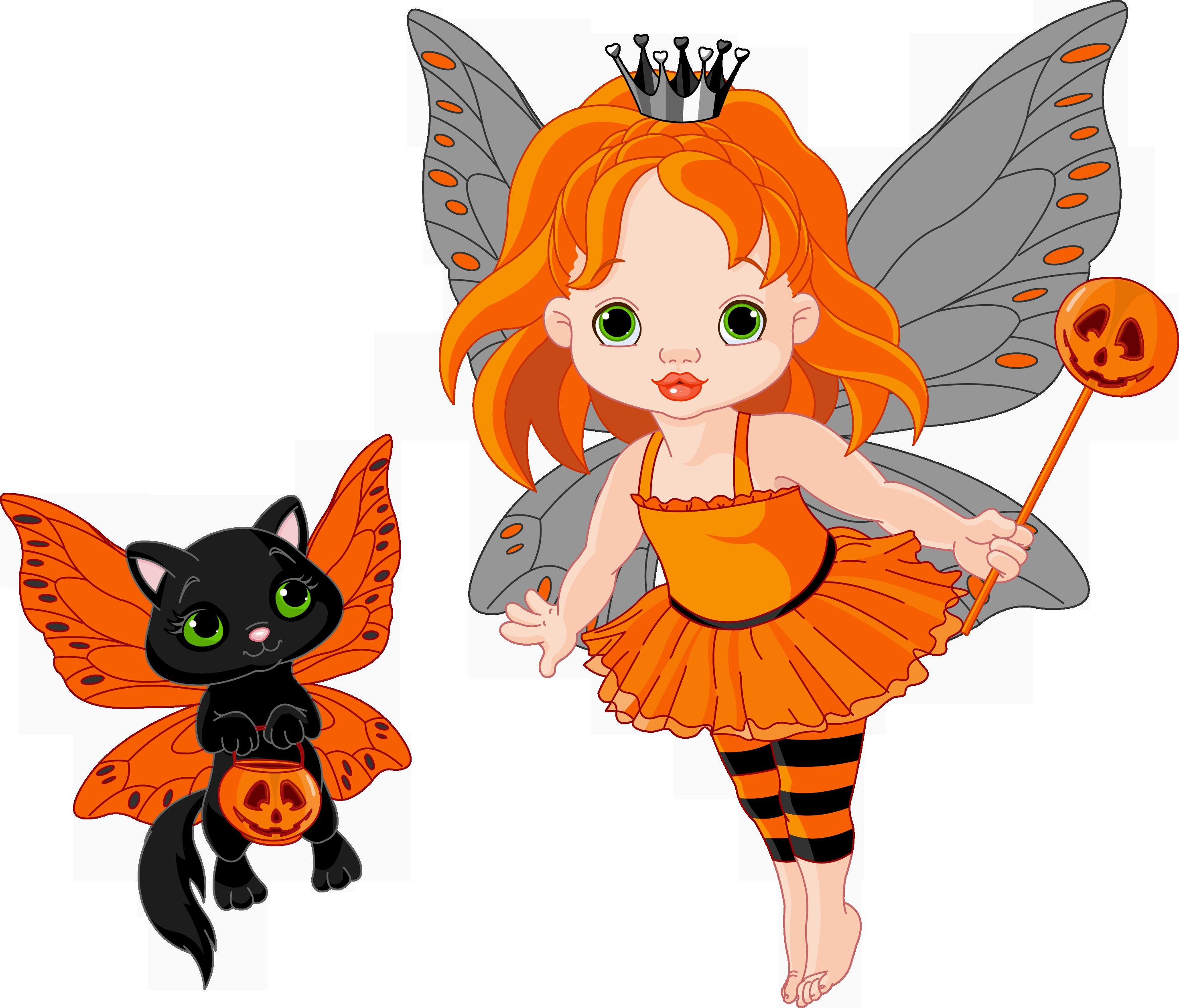 2939x2512 Transparent Halloween Fairy And Catu200b Gallery Yopriceville