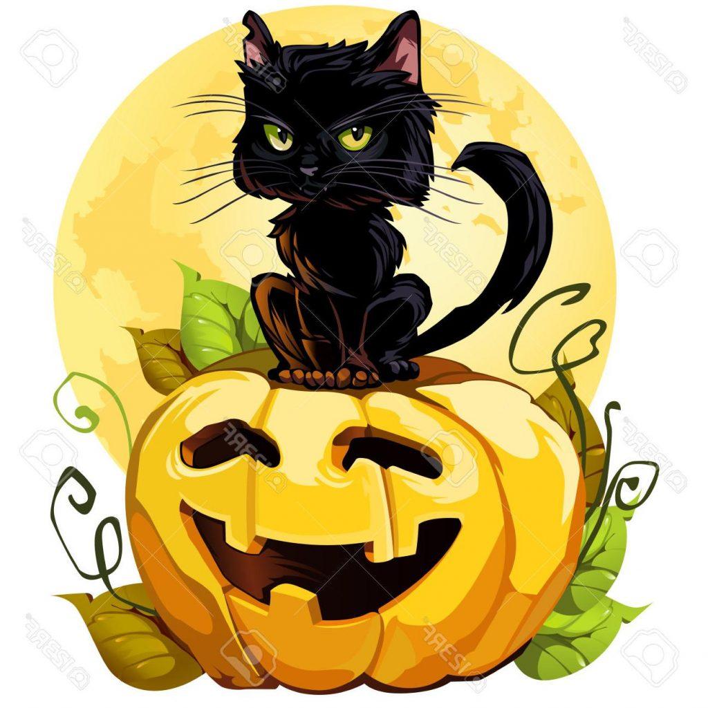 1024x1025 Best 15 Black Cat Clipart Halloween Pumpkin File Free