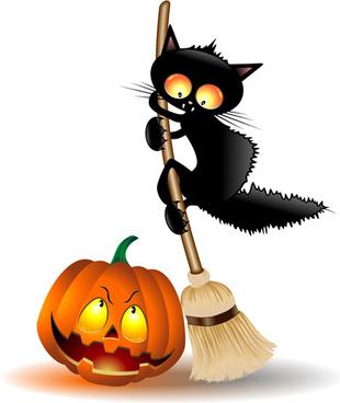 310x368 Black Cat Halloween Free Vector Download (7,773 Free Vector)