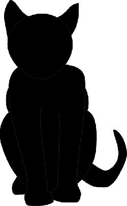 250x405 Cat, Silhouette, Cartoon, Cats, Bad, Luck, Halloween