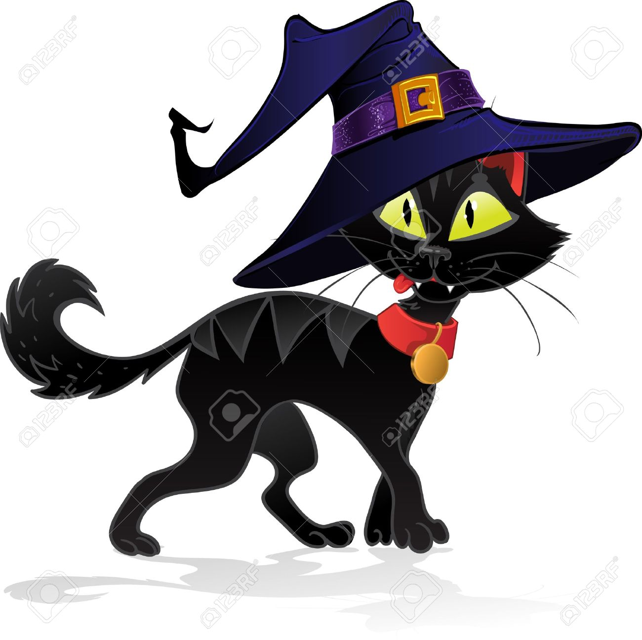 1300x1296 Black Terrible Witch Halloween Cat Royalty Free Cliparts, Vectors