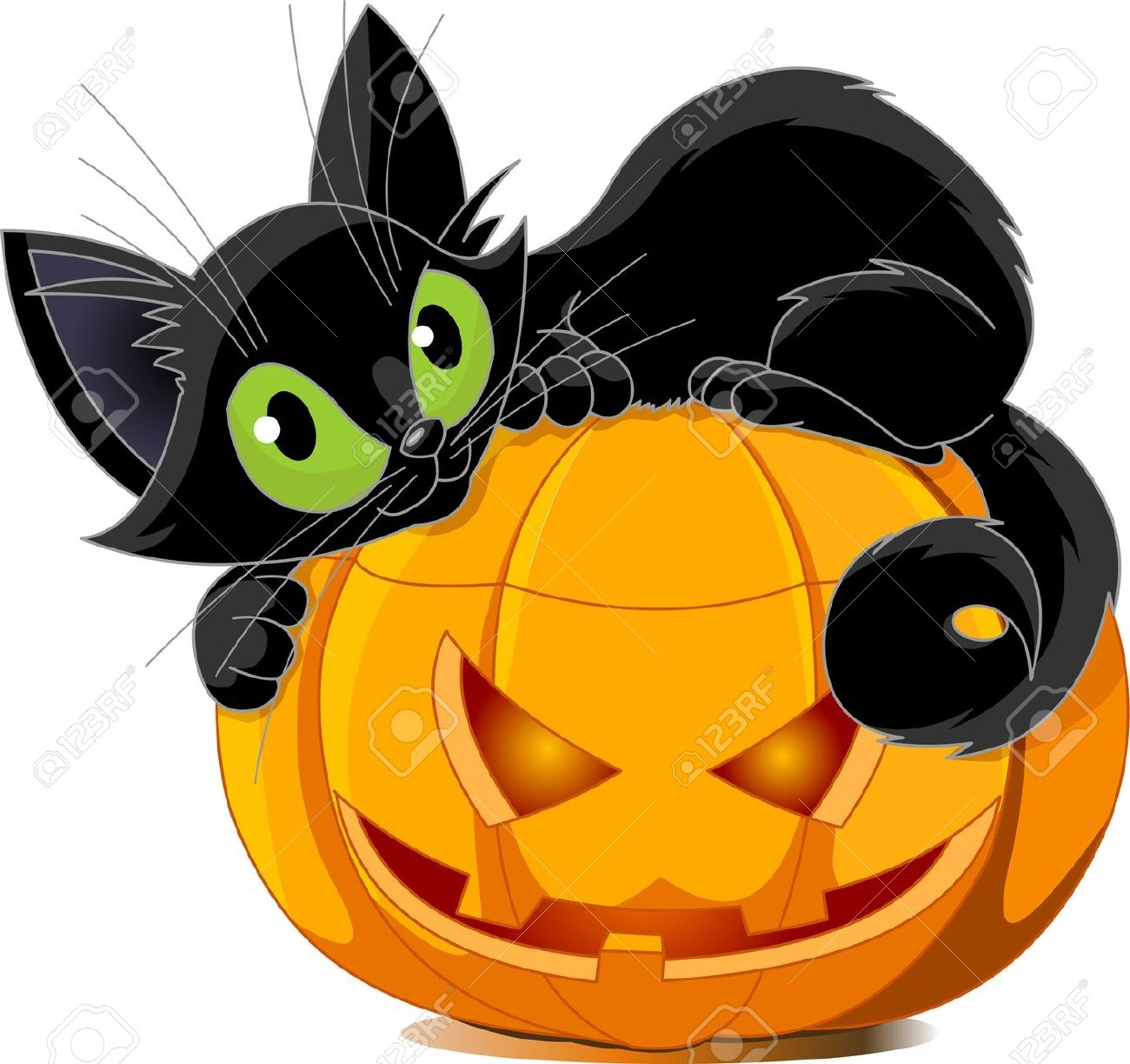 1300x1224 Clip Art Of Halloween Cats Halloween Amp Holidays Wizard