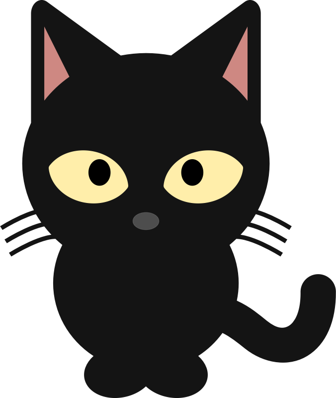 676x800 Cute Halloween Black Cat Clipart
