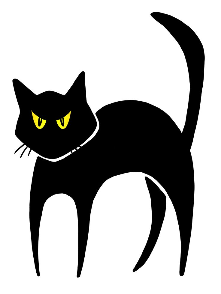 736x981 Halloween Black Cats Clipart