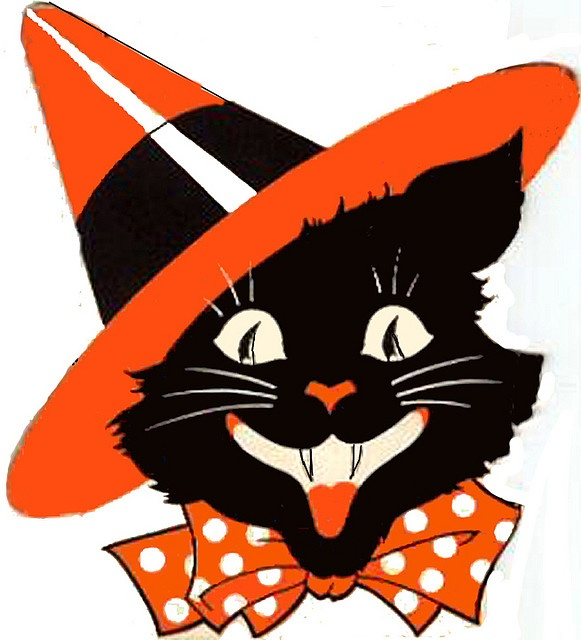 581x640 Vintage Halloween Clipart Cat Fun For Christmas