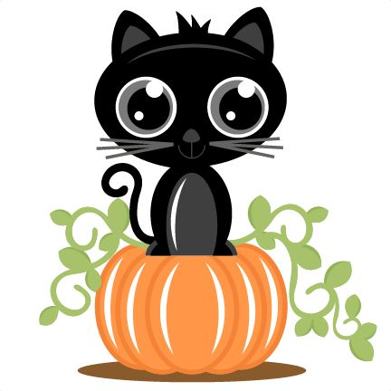 432x432 Black Cat Clipart Halloween Pumpkin