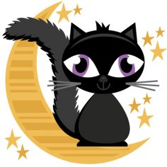 236x236 Black Cat Clipart Scrapbook