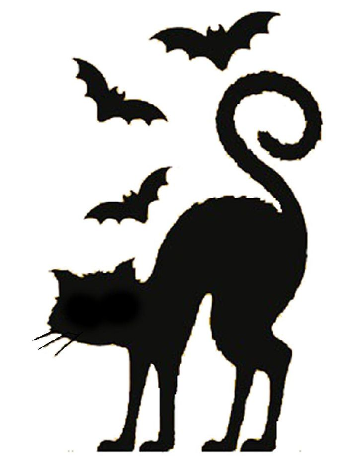 727x942 Black Cat Clipart Stencil Halloween