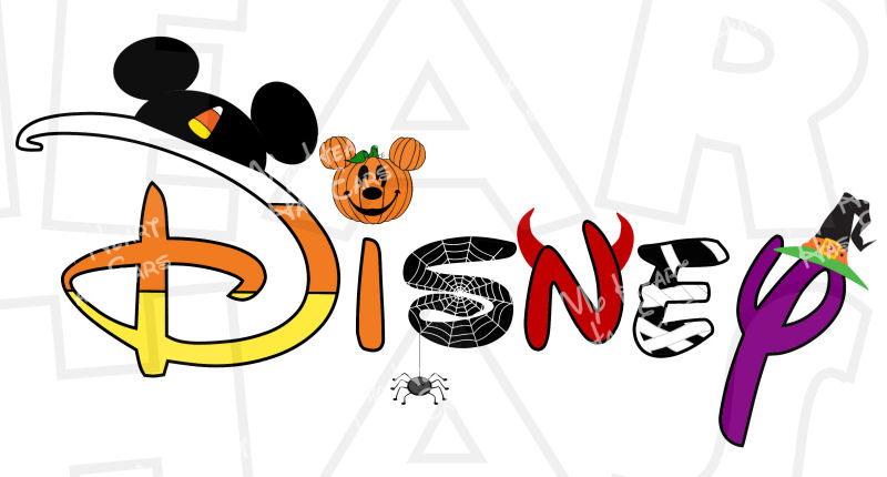 800x430 Disney Halloween In Character Text Font Instant Download Digital