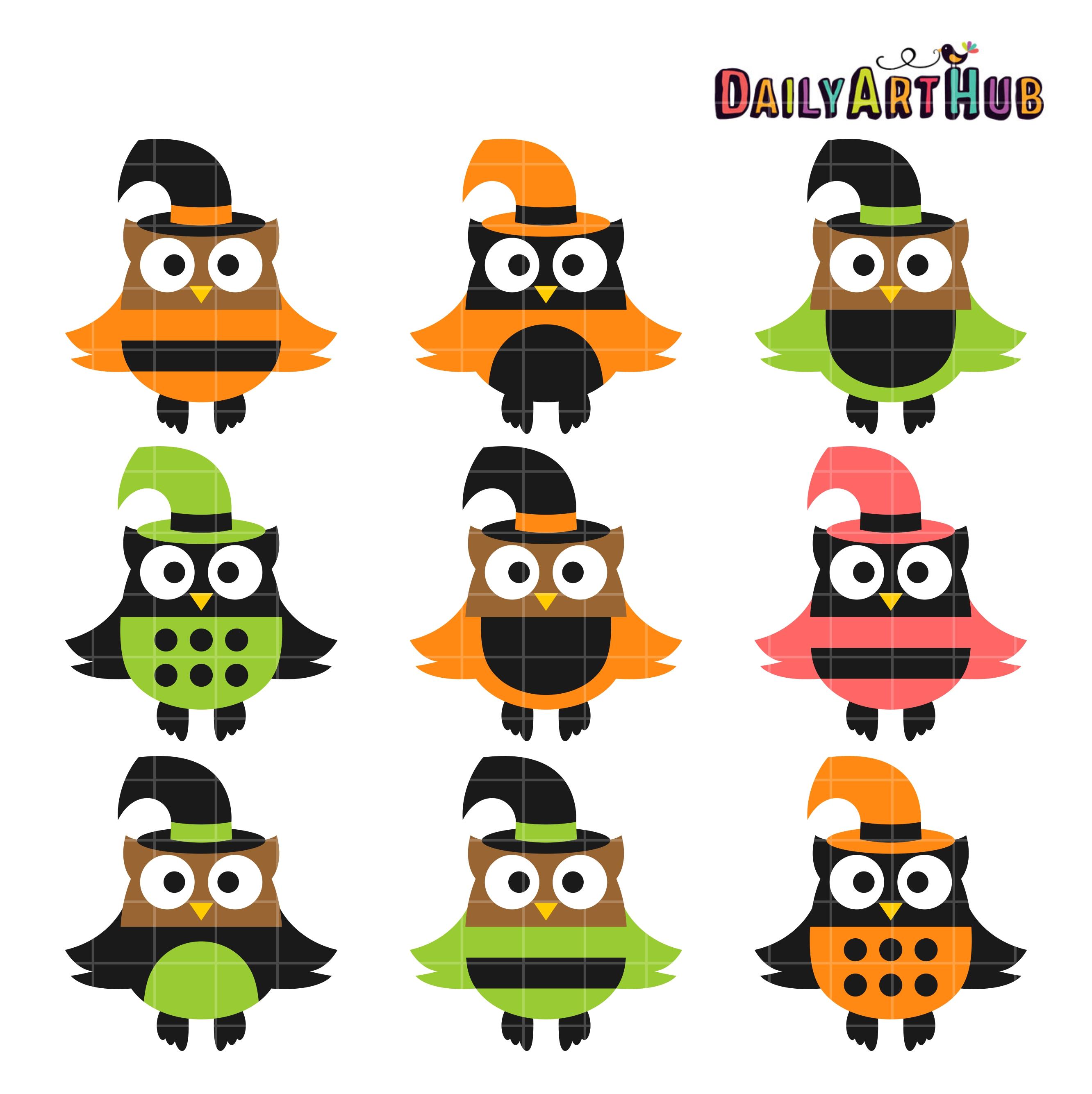 2664x2670 Halloween Owls Clip Art Set Daily Art Hub