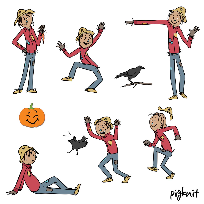 1500x1500 Scarecrow Clip Art, Harvest Clip Art, Farm Clip Art, Halloween