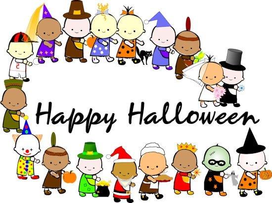 550x411 School Halloween Costume Parade Clipart