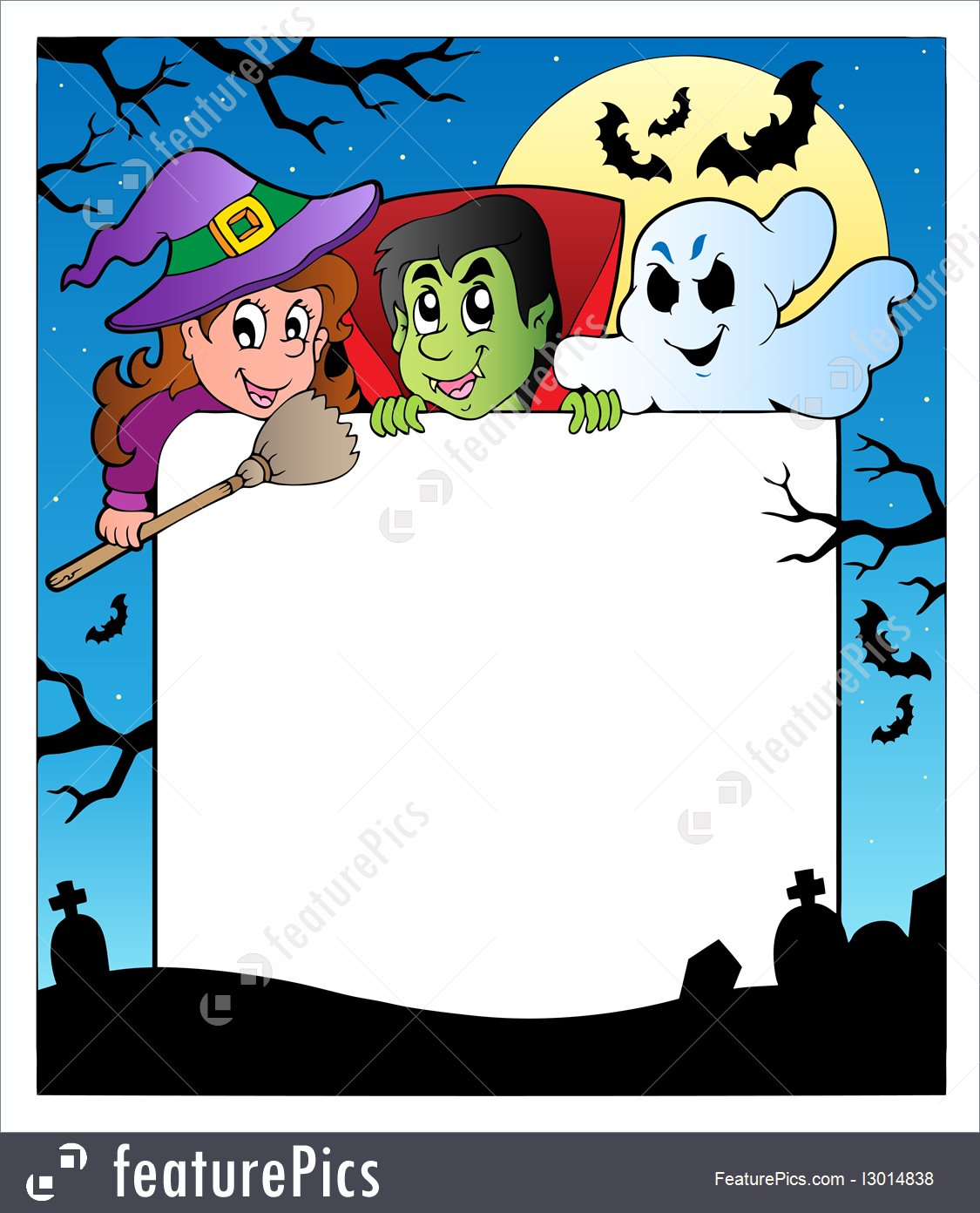 1125x1392 Frame With Halloween Characters 2 Illustration