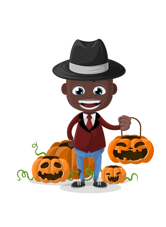 834x1142 Halloween Vector Character Set