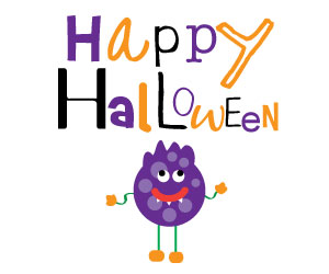 300x250 Ghost Clipart Cute Halloween Spider