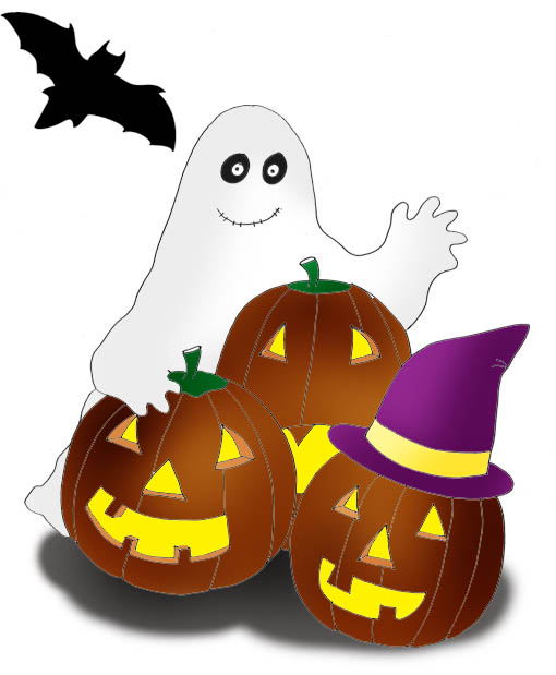 510x619 Cute halloween ghost clip art free clipart images
