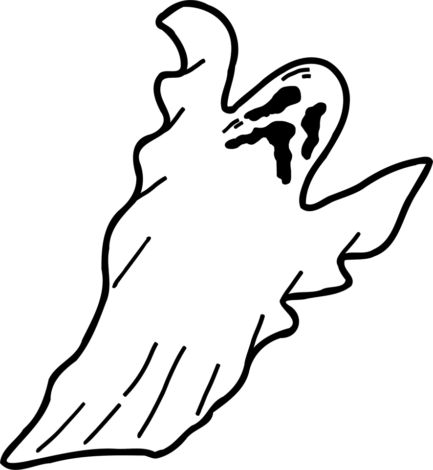 886x961 Ghost Happy Halloween Clipart Image