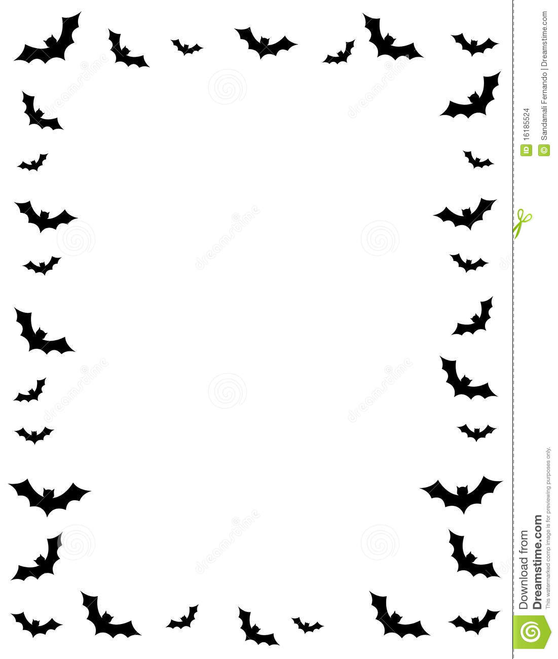 1101x1300 Halloween Border Black And White Photo Album