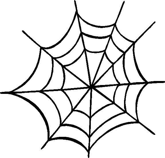 576x552 Spider Web Outline