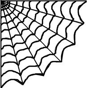 356x360 Clipart Black Background Cornered Spider Web