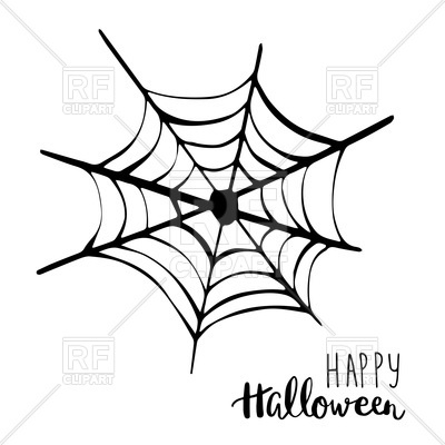 400x400 Black Spider Net Icon Royalty Free Vector Clip Art Image