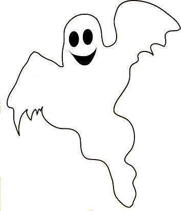 354x414 halloween line clipart - Halloween Line Drawings