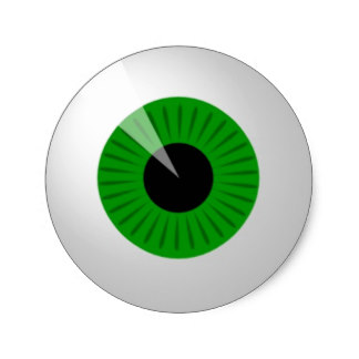 324x324 Halloween Eyeball Stickers Zazzle.co.uk