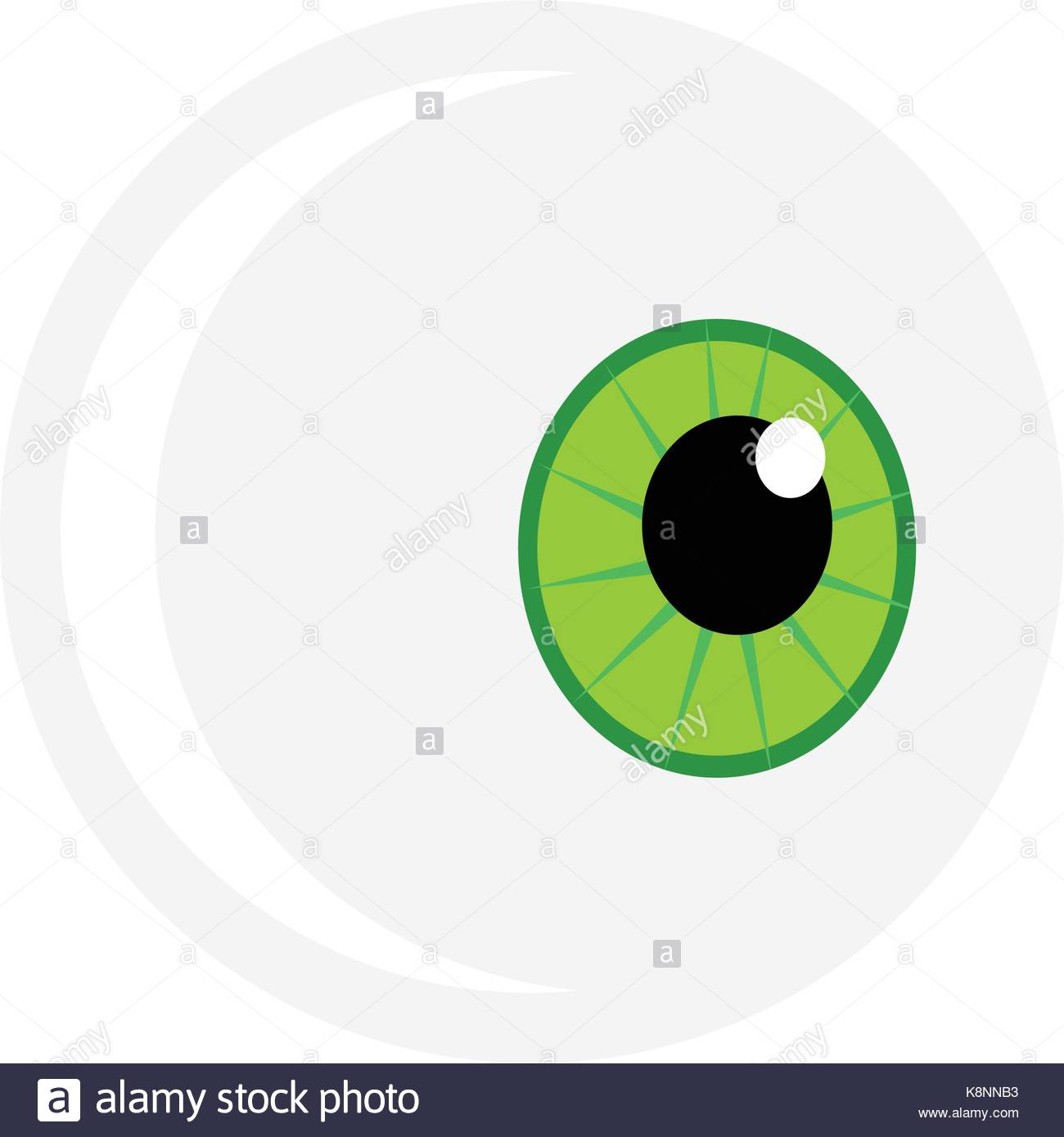 1300x1390 Halloween Eyeball Vector Symbol. Green Pupil Eye Illustration