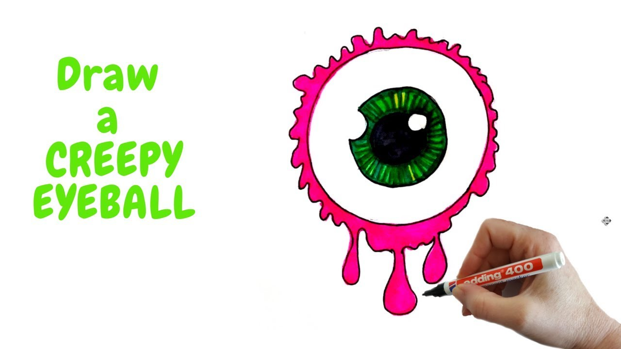 1280x720 How To Draw A Creepy Eyeball For Halloween