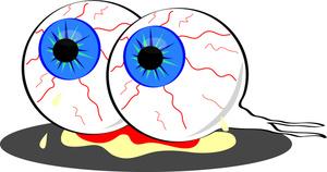 300x158 Bloody Eyeball Cliparts 181690