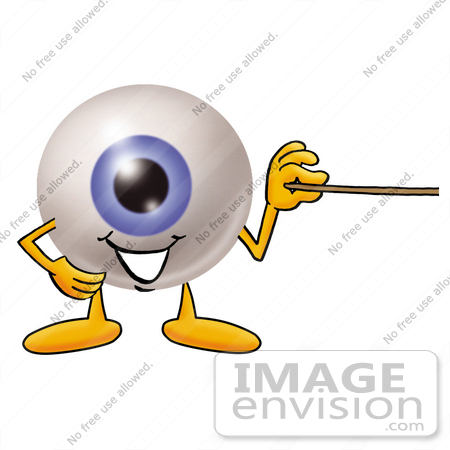 450x450 Cliprt Graphic Of Blue Eyeball Cartoon Character Holding